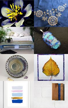 Gold and Blue by Laura P. on Etsy--Pinned with TreasuryPin.com