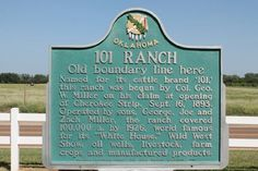 Historical Marker at the 101 Ranch in Marland Oklahoma