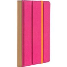Pink Canvas Trip Jacket with Orange Elastic Band for Amazon® Kindle Fire  M-Edge AF1-TR1-C-PK  PRICE DROP!  Free Shipping