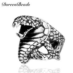 >> Click to Buy << DoreenBeads Cobra Snake Punk Ring Men 316L Stainless Steel Jewelry Fashion Gothic Vintage Rock Men's Unique Animal Rings Gift #Affiliate
