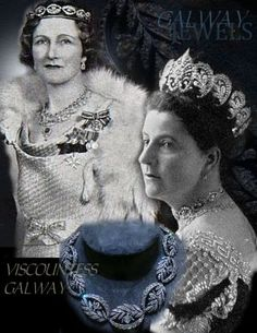 Viscountess Galway #diamond and #historic #bandeau: the left is the wife of the 8th Viscount of Galway, Governor-General and Commander-in-Chief of New Zealand and formerly a Maid of Honour to the late Queen Alexandra more about the … #tiaratuesday #tiara #crowns #tiaras #viscountess #diadem #noblewedding