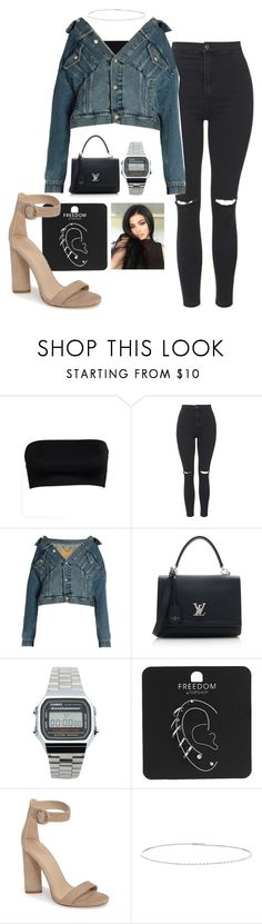 """Untitled #36"" by marciaemsilva on Polyvore featuring Topshop, Balenciaga, Louis Vuitton, Casio, Kendall + Kylie and Suzanne Kalan"