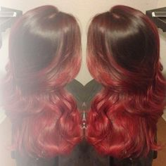 Red Ombre, doing this to my hair in two days! So excited :)