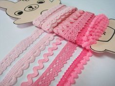 5 yards Soft Pink Trim Trim lot Lace Trim Cotton by ichimylove, $3.99
