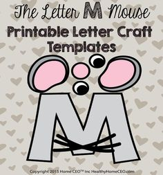The letter q quail printable letter craft template by home ceo in the letter m mouse printable letter craft template by home ceo in color and black spiritdancerdesigns Images