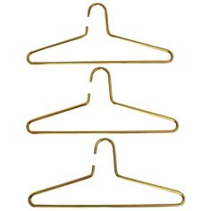 Austrian Modernist Set of Three Hangers by Carl Auböck, 1970 | From a unique collection of antique and modern wardrobes and armoires at https://www.1stdibs.com/furniture/storage-case-pieces/wardrobes-armoires/