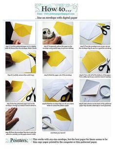 PDF TUT lining an envelope_mel stampz by melstampz, via Flickr