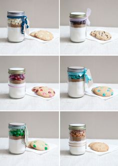 Mini Mason Jar Cookie Gifts