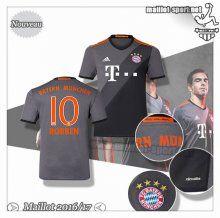 Maillots-Sport: Nouveau Maillot Bayern Munich Robben 10 Exterieur 2016 2017