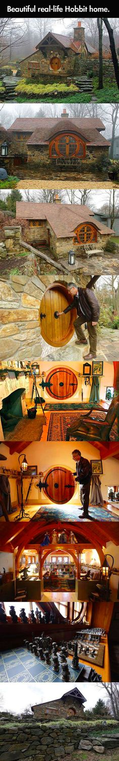 Funny pictures about Real Life Hobbit House. Oh, and cool pics about Real Life Hobbit House. Also, Real Life Hobbit House photos. Beautiful Homes, Beautiful Places, Tadelakt, Earthship, Middle Earth, The Hobbit, My Dream Home, Future House, Survival