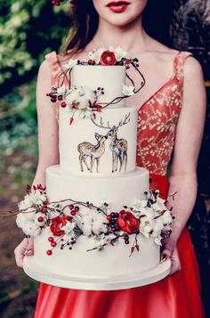 A little post of a christmassy wedding cake completed for a shoot with Elenstudi. Amazing Wedding Cakes, Elegant Wedding Cakes, Amazing Cakes, Wedding Decor, Rustic Wedding, Pretty Cakes, Beautiful Cakes, Cupcakes, Cupcake Cakes
