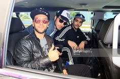 Piero Barone, Gianluca Ginoble and Ignazio Boschetto of italian pop trio IL Volo are sighted on their arrival to Puerto Rico at Luis Munoz Marin Intl Airport on April 10, 2016 in San Juan, Puerto Rico.