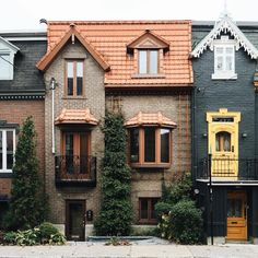 Beautiful townhouses.