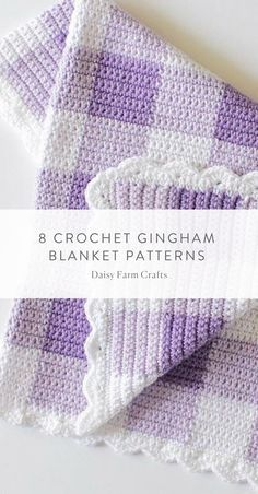8 Crochet Gingham Blanket Patterns