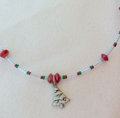 Free shippingChristmas tree pendent necklace by KCDesignsshop, $13.00