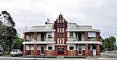 Art Deco old hotel on the Calder Highway at Bridgewater near Bendigo (Melbourne). I drive past this a few times a year - love it.