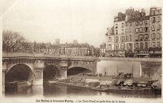 Le Pont-Neuf au petit bras de la Seine, vers 1900. On voit le quai des Orfèvres