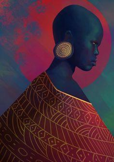 yahima by josh merrick Spectrum The Best in Contemporary Fantastic Art Black Love Art, Black Girl Art, African Art Paintings, Black Artwork, Portraits, Afro Art, African American Art, Female Art, Photo Art