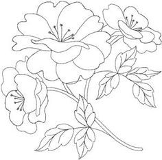 Hand Embroidery Design Quilters Flower 1 Larger Embroidery Design by Anita Goodesign Embroidery Designs, Floral Embroidery Patterns, Applique Patterns, Flower Patterns, Embroidery Stitches, Flower Embroidery, Satin Stitch, Colouring Pages, Coloring