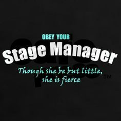 humor theater stage manager - Google Search