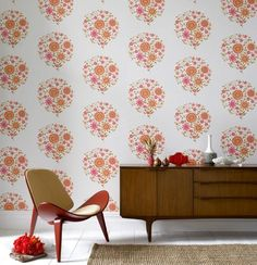 Amy Butler for Graham & Brown Wallpaper: funky yet pretty