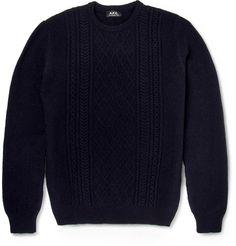 Stay warm and stylish with the selection of sweaters, cardigans and other men's knitwear from over 100 luxury fashion designers from MR PORTER. Mr Porter, Wool Sweaters, Stay Warm, Cable Knit, Knitwear, Luxury Fashion, Men Sweater, Handsome, Knitting