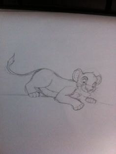Simba on a tree branch by Mikasho.deviantart.com on @DeviantArt