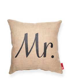 Mr Burlap Throw Pillow | POSH365INC