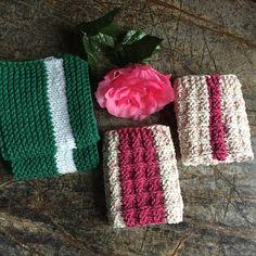 Knitted dishcloths set of 2 dishcloths dish cloths wash