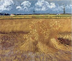 Van Gogh, Wheat Field, 1888