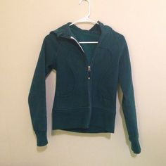 Lululemon zip up jacket Dark blue women's zip up hoodie, no tag for size, but jacket is small lululemon athletica Jackets & Coats