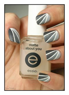 The Sunday Nail Battle - Fifty Shades of Grey - Sois Polish. Glam Nails, Hot Nails, Matte Nails, Beauty Nails, Hair And Nails, Nail Polish Art, Nail Polish Designs, Nail Art Designs, Nail Striping Tape