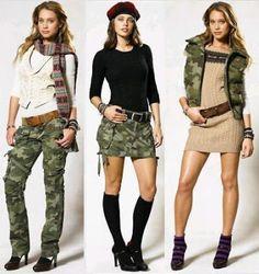 Pantalon mujer estilo militar