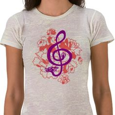 Dragon - treble clef. Musical design. Beautiful http://www.zazzle.com/musical_dragon_treble_clef_peonies_custom_shirt-235832293183707480?gl=asoldatenko&rf=238989809136585871