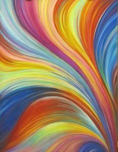 "ABSTRACT Original Pastel Large Fantasy Painting ""Rainbow Vortex"" 19 1/2""x25 1/2"" by Olena Baca Sale from OlenaBacasArt on Etsy. Saved to Art on Etsy."