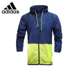 93.99$  Buy now - http://aliev3.worldwells.pw/go.php?t=32735472350 - Original New Arrival  Adidas NEO Men's  Patchwork Jacket Hooded Windproof Sportswear  93.99$