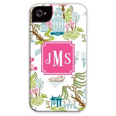 Boatman Geller Personalized Cell Phone Case Chinoiserie Spring, $50 | Layla Grayce