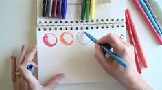 Shows how to use a water pen, watercolor pencils and water markers