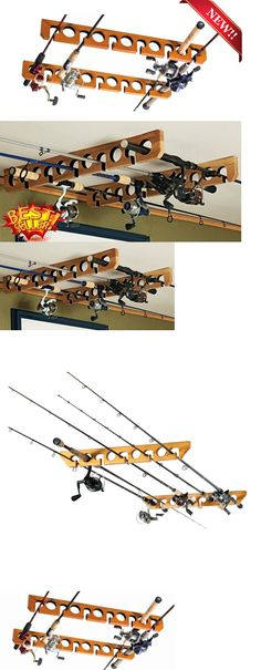 Wood 10 Gun Rifle Shotgun Fishing Rod Sword Cane Display
