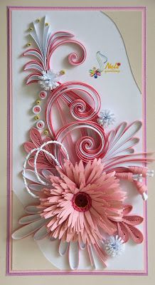 Neli is a talented quilling artist from Bulgaria. Her unique quilling cards bring joy to people around the world. Paper Quilling Tutorial, Paper Quilling Patterns, Quilled Paper Art, Quilling Paper Craft, Paper Crafts, Neli Quilling, Quilling Christmas, Quilled Creations, Paper Flowers