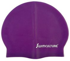 Silicone Swim Cap for Men and Women  Keep Hair Dry  Recreational Competitive and Fitness Swimmers  Greater Durability Than Latex Swimming Caps  Lightweight and Comfortable for Adults Children Boys and Girls  100 Satisfaction Money Back Guarantee Purple Ripple ** Learn more by visiting the image link.
