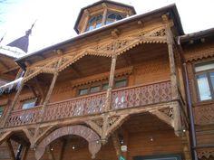 Traditional wooden architecture in Zakopane (Zakopane style)