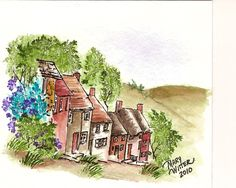 Mary's Impressions: English Countryside Watercolor