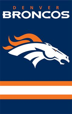 Denver Broncos NFL Applique Banner Flag   Man Cave Kingdom