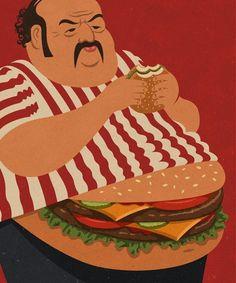 John Holcroft screen-print-like digital illustrations rich with metaphor and humor Art And Illustration, Art Pop, Satire, Sarcastic Pictures, Digital Foto, Satirical Illustrations, Visual Metaphor, Grafik Design, Illustrators