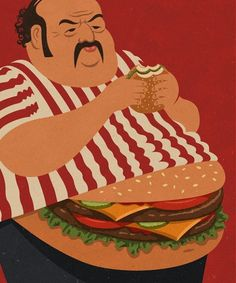 John Holcroft illustrations burger