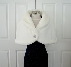 Faux Fur Stole Bridal Wrap Cape Shrug Beaver by oldintonewcouture, $105.00- soooo cute for my wedding!