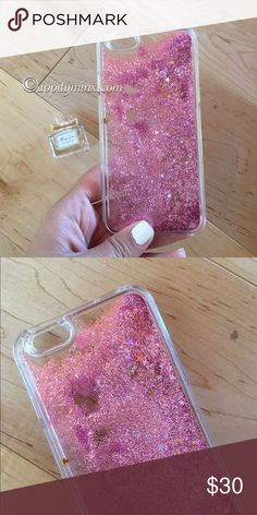 🆕 Pink Liquid Glitter iPhone 6, 6+ Case Gorgeous case! Pink liquid glitter with stars. Fits 6/6plus, 7/7plus. No trades. Indicate the size you want when you purchase. Uppity Minx Accessories Phone Cases