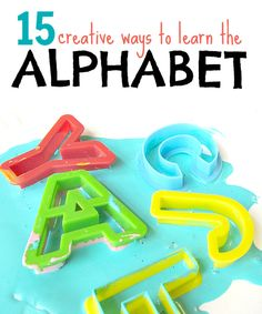 15ways to learn the alphabet, including letter crafts via No Time for Flash Cards