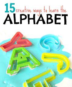 15 creative ways to learn the alphabet